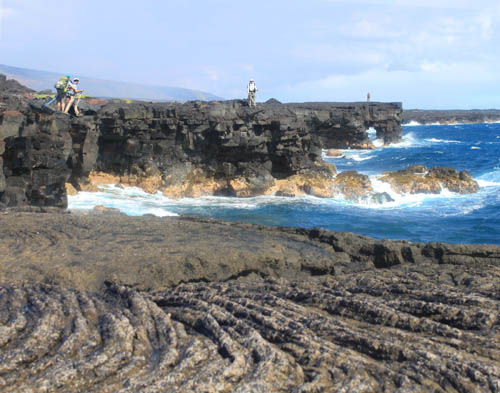PunaCoastTrail-Arch-Pahoehoe-Backpackers