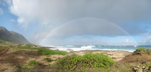 Kaena-Pt-Mokuleia-Coast-Rainbow-Sml