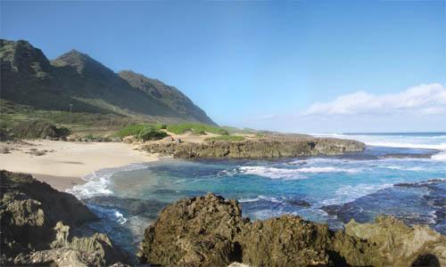 Kaena-Pt-Mokuleia-Cove-Pano-Sml