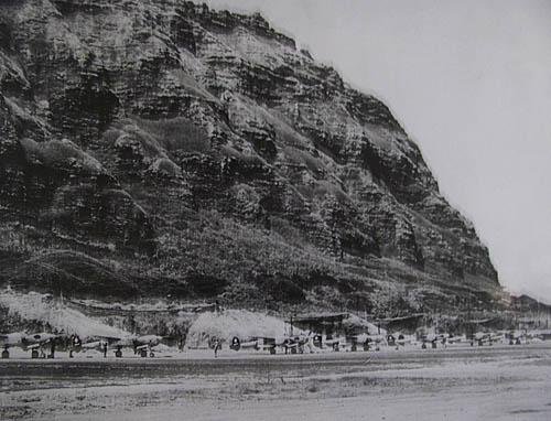 Historic World War II Photo of Air Strip at Kualoa, Courtesy of Kualoa Ranch